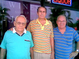 October 2008 - retired Hialeah High School coaches Mike Feduniak and Chuck Mrazovich with Don Boyd