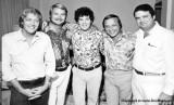 Mid 1960's - WQAM disk jockeys Lee Sherwood, Dan Chandler, Roby Yonge, Rick Shaw and Charlie Murdock
