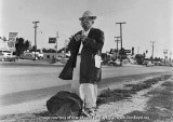 1953 - a vagabond hitchhiking south on Biscayne Boulevard at NE 88th Street