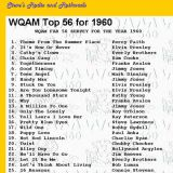 WQAM top songs for 1960