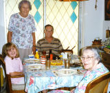 1996 - Donna, Aunt Norma G. Boyd, Don and Aunt Beatrice B. Gift