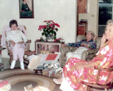 1973 - Irene Anthonsen, Clarice Arnold (Gram) and Aunt Norma after Christmas dinner