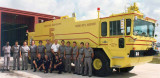 1986 - one of the Metro-Dade Aviation Department fire department crews with Foam 5 at MIA