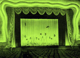 The draperies around the screen at the Carib Theatre on Lincoln Road, Miami Beach