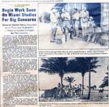 1921 - Miami Metropolis article on the Miami Studios being built in Hialeah