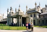1999 - Donna, Karen and Esther Majoros Criswell at the Royal Pavilion, Brighton, England