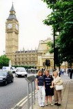 1999 - Donna and Karen Boyd with Esther Majoros Criswell at Big Ben, London