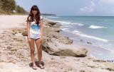 1980 - Kathey Z. at Blowing Rocks on Jupiter Island