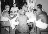 Early 1960's - Bill Sweeney, Irene Anthonsen, Clarice Arnold, Teresa Kayal, John Boyd, and Dot Sweeney playing cards