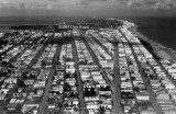 1962 - aerial view of Miami Beach from the Goodyear Blimp Mayflower