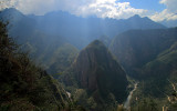 Urubamba river valley from Waynapicchu