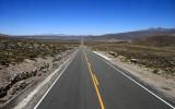 Endless road in Peruvian desert
