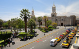 Arequipa city center, Plaza de Armas and Cathedral