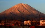 Sunset light playing on the slopes of El Misti, 5822 m