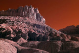The Castle in Capitol Reef National Park at sunrise.