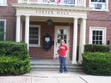 alex in front of porter hall