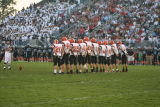 ahs kickoff team in front of a large hilliard darby crowd
