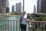 alex on michigan ave over the chicago river