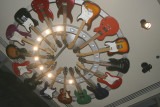 guitar chandelier at hard rock chicago