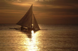 peacefull sunset at Boracay