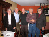 Recent reunion with old friends from Brooklyn: L to R: Alan, Jerrry, Ken, Elliott and Richard