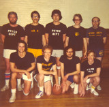 Department of Psychology basketball team - Richard is second from the right, bottom row  (mid-1970s)
