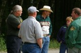 Sheriff's Jeep Patrol provides security at the trailhead