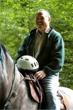 Olympic NF Superintendent Dale Hom enjoys his ride
