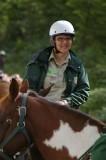 Susie Graham riding in line
