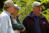 Bob Van Schoorl, Dale Hom, and Quinault's Pete Erben getting ready