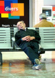 Relax in the railway station