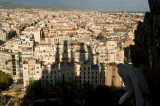 Shadow of Sagrada Familia over the city