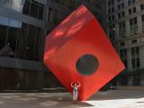 Isamu Noguchi :  Red Cube - 1968