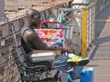Softdrinks vendor on Brooklyn Bridge