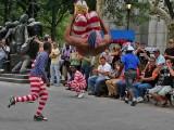 Acrobats performing at Clinton Castle