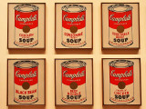 Andy Warhol : Campbells Soup Cans - 1962  ( detail )