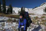 Hiking up towards Fox Creek Pass