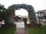Antler Arch at the town square in Jackson, Wyoming
