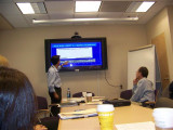NIH Dr. Stratakis speaking to group with Dr. Demetri on right