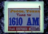 Pecos Sign and Hawk