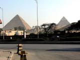 The one on the left is the great pyramid of Cheops and the one on the right is that of his son Chephren