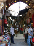 The Khan el Khalili Bazaar, the biggest shopping center in Cairo