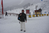 Nevando na Base do Cerro Catedral