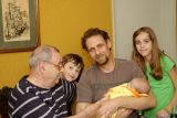 Vovô,Mateus,Papai,Mariana e Helena