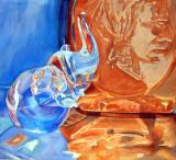 crystal elephant with bottles.jpg