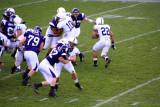 Royster runs around the defense