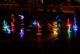 Market street colors of the fountain, The Woodlands, Texas