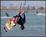 Kitesurfing near Sant Carles de la Rapita - Ebro delta / Spain