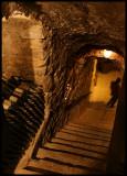 Deep down to Montsonis Castle Wine cellar