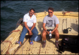 Looking for African Skimmers on Lake Nasser  1993